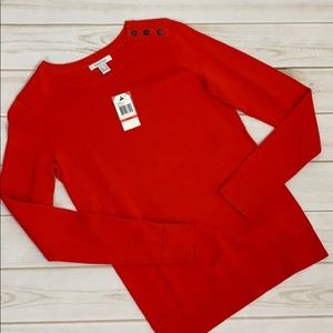 Pretty and bright red sweater by Nautica Sz XS NWT
